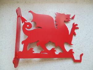 Gift idea ,Hanging basket hook on fixing frame Welsh dragon