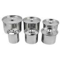 Kitchen Spice Jar Stainless Steel Salt Condiment Pot Sugar Container 7 Sizes