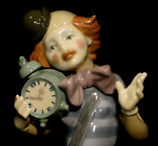 lladro Clown with Clock  ***LARGE-12 INCHES*** RARE $650 RETAIL