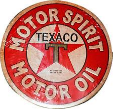 Texaco runder Gusseisen Schild Plakette der Wand Garage Werkstatt Tankstelle
