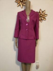 NWT LeSuit Hot Pink Skirt Suit sz 8 $10