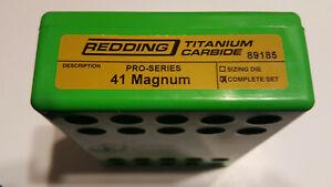 89185 REDDING TITANIUM CARBIDE PRO SERIES DIE SET - 41 MAGNUM - FREE SHIP