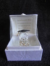 Graduation Gift Keepsake Crystal Bear with Message Box University College Gift
