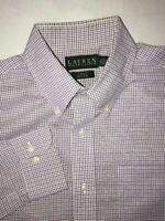Men's Laruen Ralph Lauren Button Down Dress Shirts Size 16.5 36/37 Slim Fit