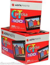2  x AGFA PRECISA 100 35mm 36exp CHEAP COLOUR SLIDE FILM by 1st CLASS POST