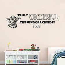 Star Wars Yoda Words Art vinyl Quotes Wall sticker Wallpaper home decals