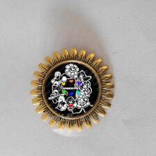 Undertale Brooch Fashion Pendant Gift Cosplay Badge Pin Asriel Dreemurr Undyne