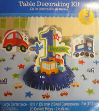 Amscan 280033 All Aboard Birthday Table Decorating Kit Pack of 6