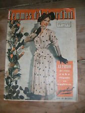 Femmes d'aujourd'hui N° 366 1952 Mode vintage patrons Couture Tricots Robe