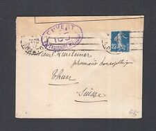 FRANCE 1910s TWO WWI CENSORED SAGE COVERS TO SWITZERLAND