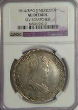 1814/3 JJ 8 Reales:   NGC AU (details):   Mexico City Mint
