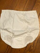 Vintage White Cotton Women's Panties Cotton Undies Lollipop Size 8 New Old Stock