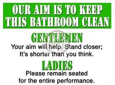 KEEP BATHROOM CLEAN COMEDY RETRO LARGE  VINTAGE STEEL WALL PLAQUE TIN METAL SIGN