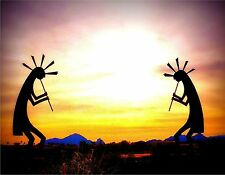KOKOPELLI SUNSET MOUSE PAD  IMAGE FABRIC TOP RUBBER BACKED