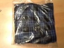 "Acrylic Honeycomb Stripe Sheet Horse Cooler 74"" Blue Check Bnwt New"