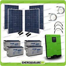 Kit solare fotovoltaico 1.1KW Inverter Edison50 5kW 48V PWM Batterie AGM
