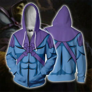 Anime SKELETOR Hoodies Coat Sweatshirt Unisex Cosplay Costume Halloween Cos New