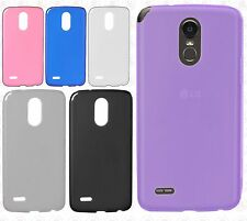 For LG Stylo 3 TPU Frosted CANDY Hard Gel Flexi Skin Case Phone Cover Accessory