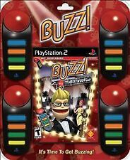 NEW PS2 BUZZ THE HOLLYWOOD QUIZ + 4 BUZZERS & ESPN HOLE-IN-ONE TOURNAMENT GOLF