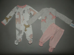 NWT, Baby girl clothes, Preemie, Carter's 3 piece set/ ~SEE DETAILS ON SIZE/ NEW