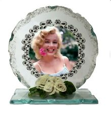 Marilyn Monroe Photo Cut Glass Round Plaque Valentine, Keepsake Limited Edition