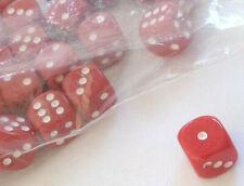 ca. 11 Würfel für Bastler rot klein Schmuck ca. 12 mm Mode Cube Spiel Game