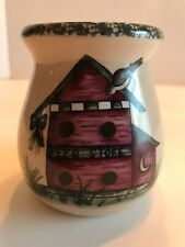 Home & Garden Party Bird House Pattern Tea Light Wax Warmer 2000 Retired