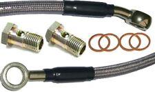 Braided stainless steel Brake Hose 68.5 cm long