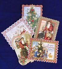 Punch studio greeting cards party supplies ebay punch studio 5 die cut christmas cards antique ephemera santa tree sled nos m4hsunfo