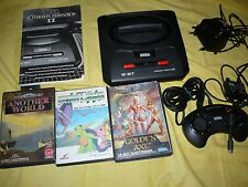 Sega megadrive 2 console completa di cavi + manuale + another world + golden axe
