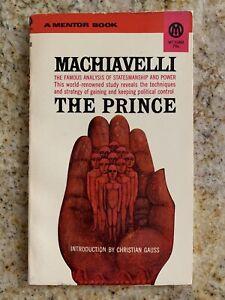 MACHIAVELLI The Prince MENTOR 1952 23rd Printing Vintage Paperback *LIKE NEW*