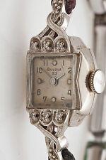 Vintage 23 JEWEL Bulova 14k White Gold Diamond Ladies Watch