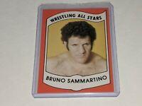 BRUNO SAMMARTINO WWF 1982 Wrestling All Stars Series A Trading Card #13 VGC