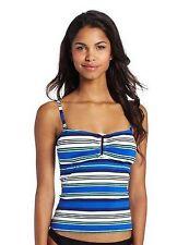 Jag Swim Tankini Top Swimsuit Sz S Striped Swimwear (K17)