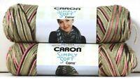 2 Count Caron 4 Oz Simply Soft Camo 11420 Pink Camo Polyester 4 Medium Yarn