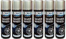 6 x Silver Wheel Spray Paint 250ml Aerosol Can Auto Extreme Car Van Bike Can