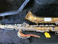 Vintage Selmer Tenor Sax w/mouthpiece & hard CASE sold AS-IS Made in the USA