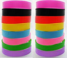 24pcs Simple Plain Silicone Bracelets 8 Colors Wholesale Children Party Gift