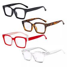 4 Pack Ladies Reading Glasses - Oversized Square Oprah Readers for Women