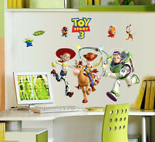 New Disney Toy Story Woody Buzz Lightyear Removable Wall Stickers Decals Boy Kid