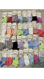 Under Armour UA Training Cotton No Show Ankle Socks - 10 PACK -FREE SHIP Womens