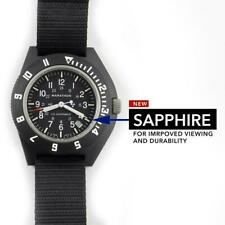 MILITARY WATCH AVIATION MARATHON NAVIGATOR DATE, SAPPHIRE + 2 XL straps -- NEW