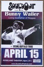 BUNNY WAILER 2016 Gig POSTER Portland Oregon Concert Soul'd Out Music Festival
