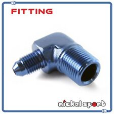 """6AN AN6 Male to Male 3/8"""" NPT 90 Degree Flare Fitting Adapter"""