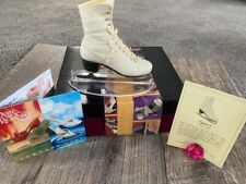 Just The Right Shoe Raine Figure Eight #25144 Ice Skate With Box And Stand