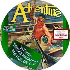 ADVENTURE MAGAZINE - 54 VINTAGE ISSUES - PDF ON DVD