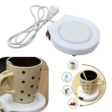 Electric Cup Warmer Plate Pad for Home Office Coffee Tea Milk Mug Heater +Switch