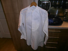 Rare 1920s Arrow White Label Collarless Faille Front  Dress Shirt sz 14""