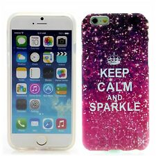 Apple iPhone 6 (4,7') Silikon Case Schutz Hülle Cover Etui Keep Calm and Sparkle