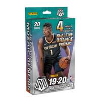 Two (2) 2019-20 Mosaic NBA Basketball Sealed Hanger Box Reactive Orange Genesis